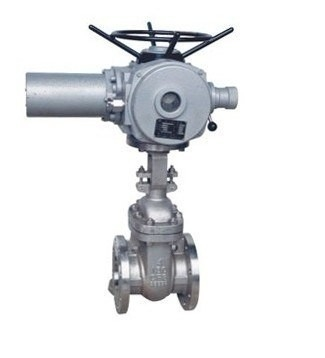 Flanged Cast Steel Oil Gas Gate Valve Full Bore With Electric Actuator Operator